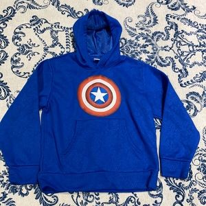 Small Boys Marvel Captain America Hoodie no stains